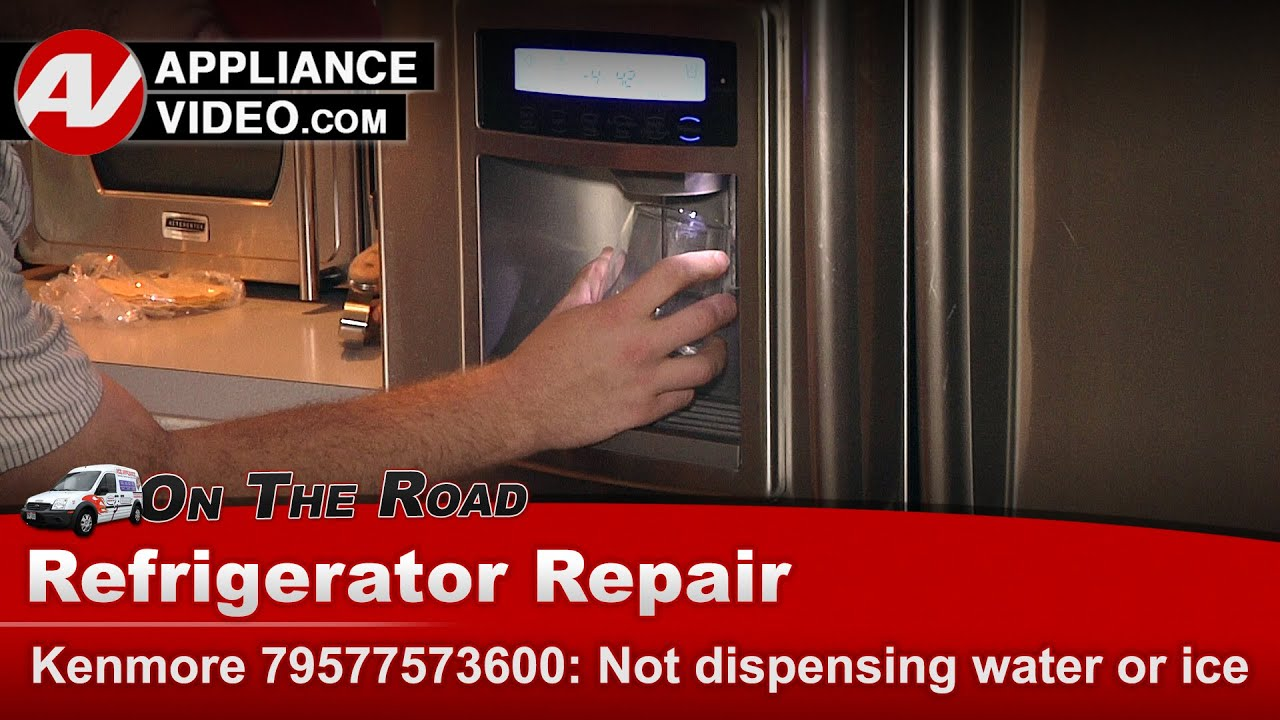 Kenmore Whirlpool Kitchenaid Refrigerator Not Dispensing Water Or Ice Repair Diagnostic