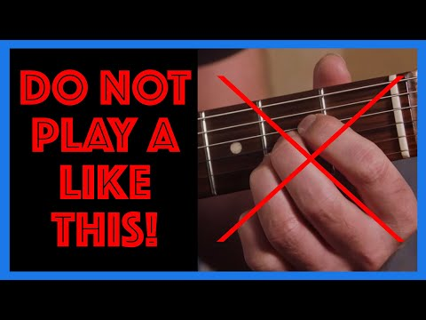 The best way to play an A Chord For beginners! Guitar Lesson [B1-108]