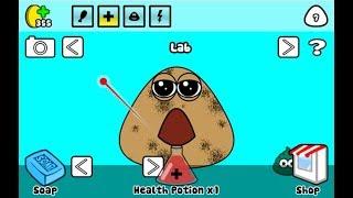 Зверек ПУ POU как КАКАШКА видео для детей виртуальный зверек как из мультика игры для детей