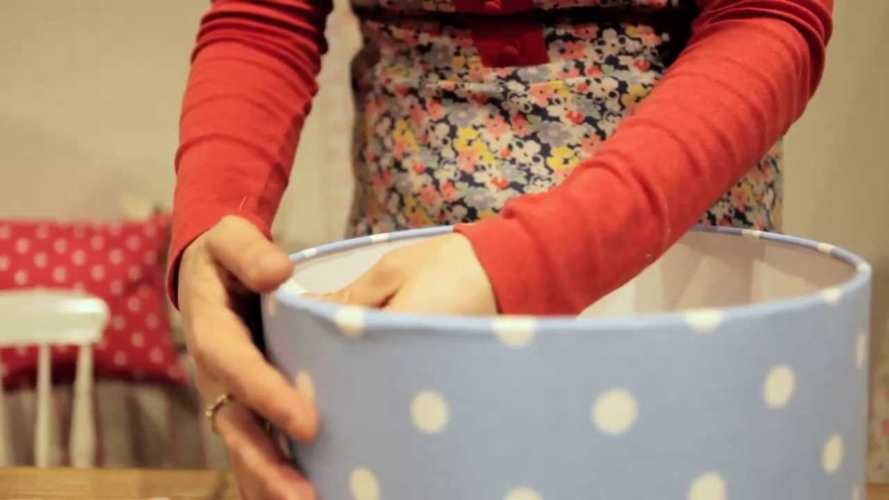 Make your own Cath Kidston lampshade - YouTube