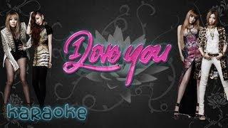 2NE1 - I Love You [karaoke] MR ver.
