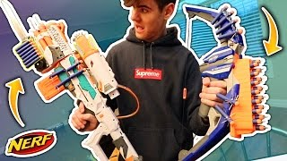 MOST DANGEROUS EXTREME NERF GUN CHALLENGE (Dont Try This)