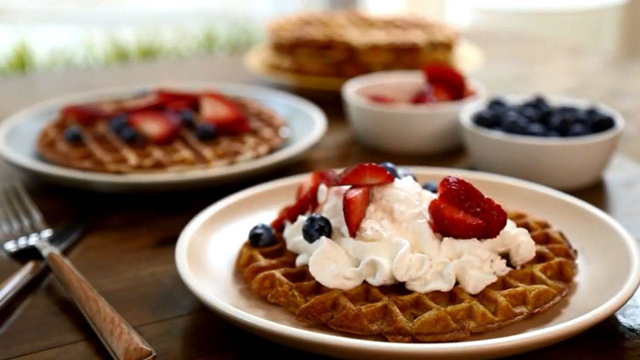 How to Make Cinnamon Belgian Waffles | Brunch Recipes | AllRecipes - YouTube