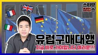 유럽구매대행을 지금 바로 시작해야하는 이유, 중국구매대…