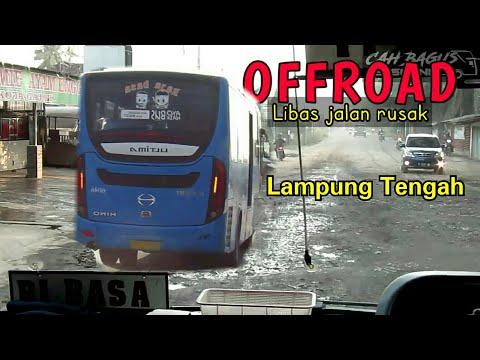 libas Jalan rusak Lampung tengah,jln shubuh andalan penumpang,Trip Bus Damri Rajabasa-Gaya Baru