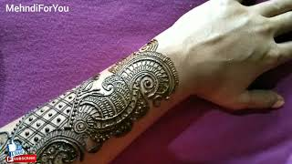 vuclip Arabic mehndi design || Easy to apply Arabic mehndi design || Simple Mehndi design for beginners