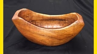 How To Carve A Root Wood Bowl