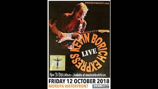Kevin Borich Express on stage in Moruya Oct 12th 2018