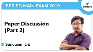 IBPS PO Main English Previous Year Paper Discussion Part 2 |
