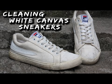 EFFECTIVE WAY TO CLEAN WHITE CANVAS SHOES (TUTORIAL)