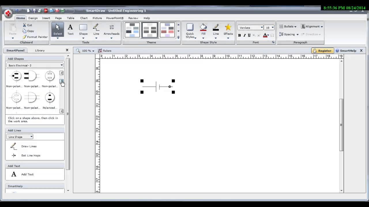 برنامج رسم الدوائر الكهربائية البسيطة