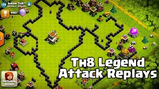TH8 LEGEND LEAGUE | ATTACK REPLAYS | MUST WATCH.