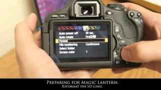 Magic Lantern Install Tutorial for Canon 2012 (feat. Rebel 600D / t3i)