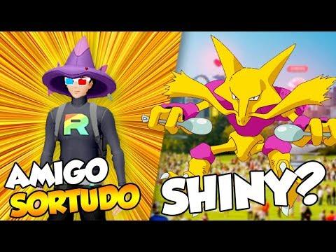 AMIGO SORTUDO, ALAKAZAN SHINY(?) E A VERDADE SOBRE RIOLO - Pokémon Go | PokéNews thumbnail