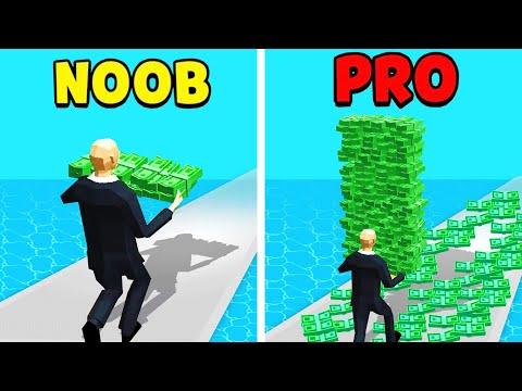 KEIN GELD vs VIEL GELD.. (NOOB vs. PRO) in MONEY RUN 3d