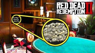 *SECRET* POKER ROOM FULL OF MONEY in Red Dead Redemption 2! RDR2 Robbery Fast Money!