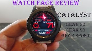 Watch Face Wednesday : Urarity Catalyst Review Gear S3 Gear Sport Gear S2