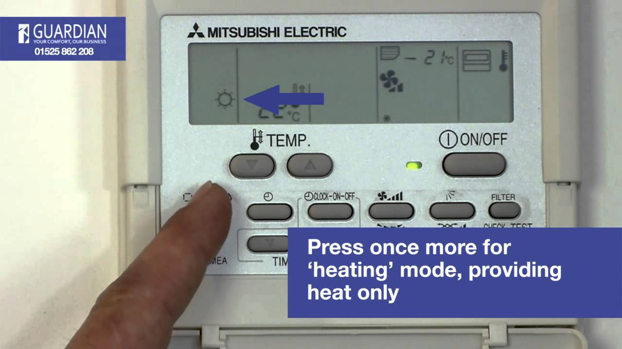 Mitsubishi Air Conditioning Control Panel How To Guide   YouTube