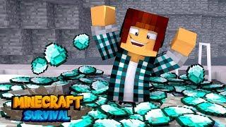 Minecraft Survival #31 - PISCINA DE DIAMANTE !!