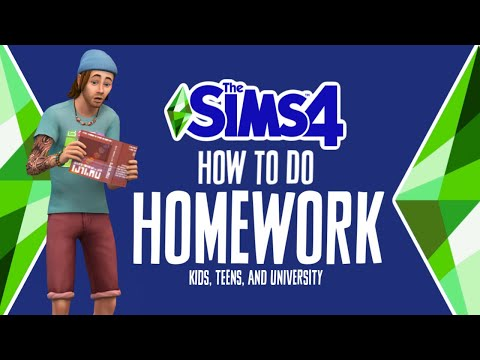 How to Do Homework in The Sims 4 📚 | Grade School, High School and University 🏫