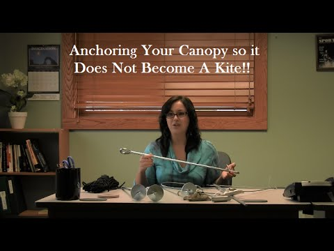 Anchor Your Canopy So It Does Not Become a Safety Hazard In The Wind