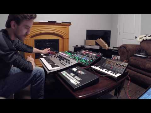 Squarp Pyramid- Live, Multitrack MIDI Recording with JP08, JU06, Minilogue, and TR8