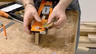 UJK Technology Hinge Jig With Clamp Plate (Part 1)