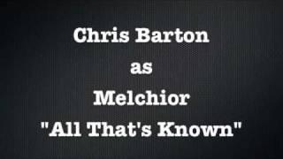 All Thats Known, Original London Cast of Spring Awakening. Chris Barton