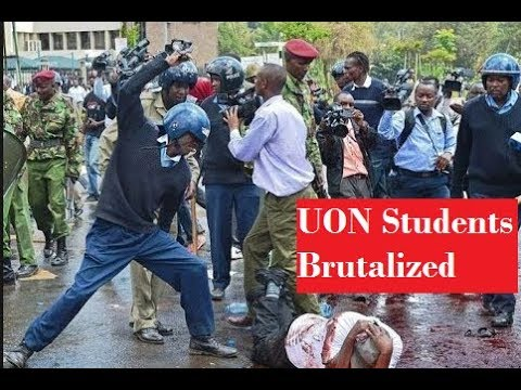 5 Raw Clips of GSU Police Beating University of Nairobi Students