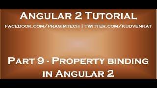 Property binding in Angular 2