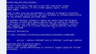 Синий экран смерти при установке windows -решение проблемы