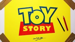 TOY Story Logo Drawing - Fan Art How To Draw