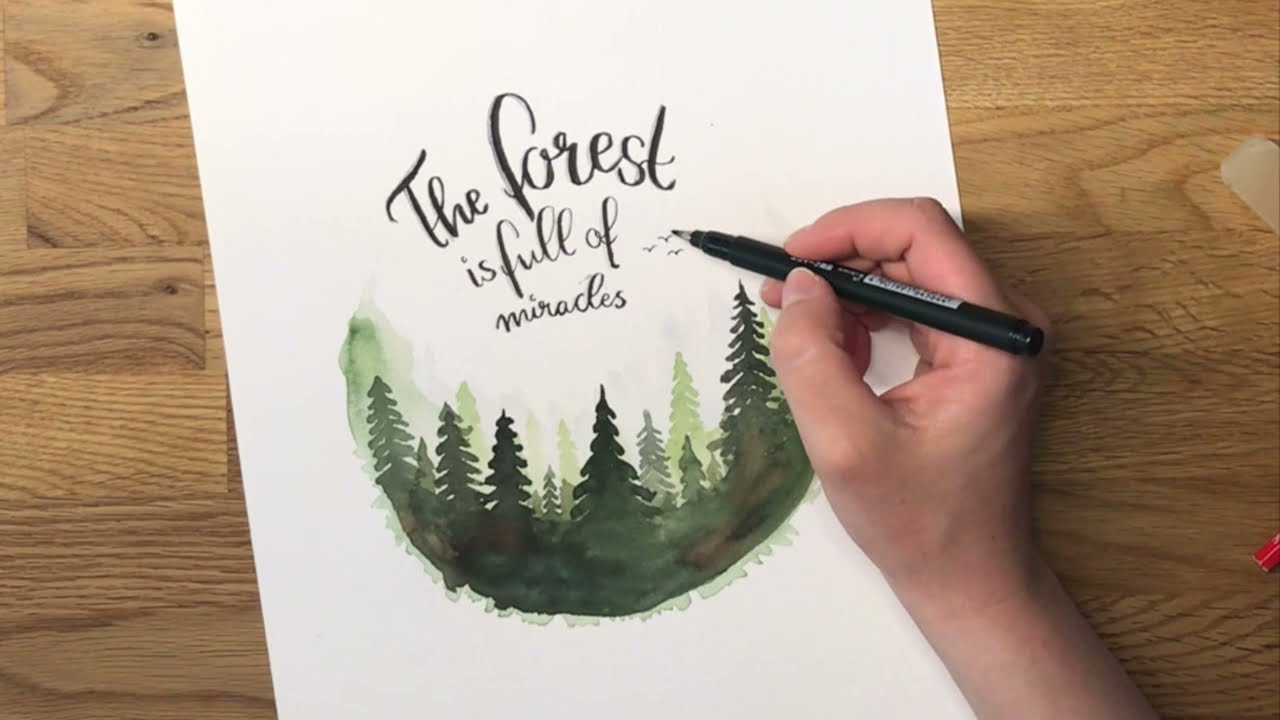 Waldbild selber malen