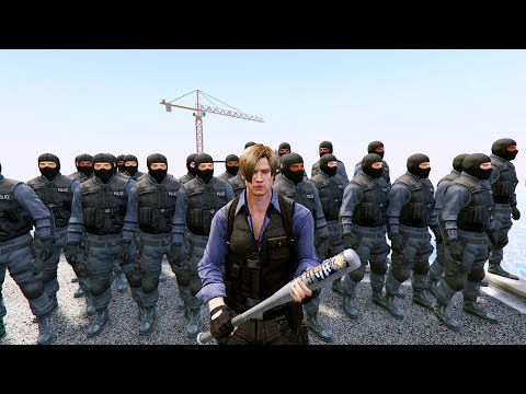 GTA 5 Mods leon s kennedy/Resident evill(Mods Gameplay Funny Moments)