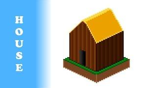Pixel speed art - Village house I Пиксельный спид арт - Деревенский дом