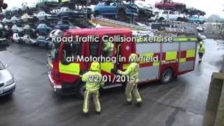 Road Traffic Collision Exercise at Motorhog in Mirfield