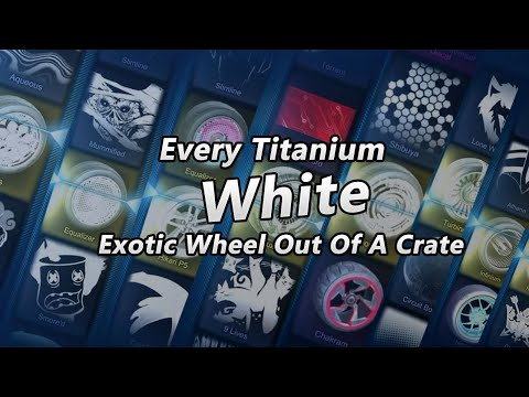 Every Titanium White Exotic Wheel Out Of A Crate Rocket League thumbnail