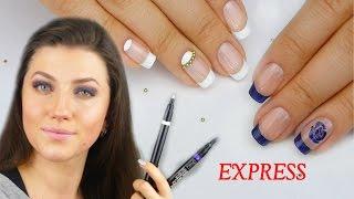 ЭКСПРЕСС - МАНИКЮР МАРКЕРАМИ для дизайна Nail Art Pen / Маникюр в домашних условиях