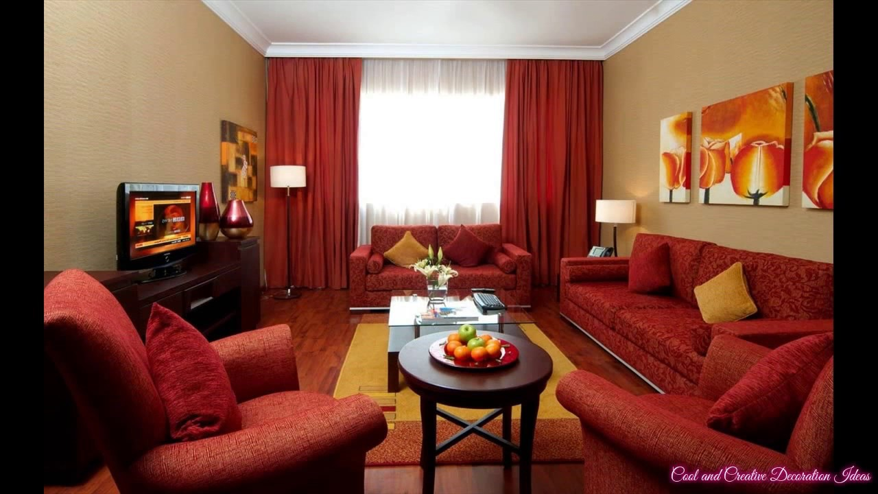 Red Sofa Design Living Room Patterned Chairs Decorating Ideas With Couch Youtube