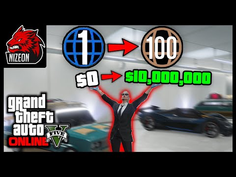 FASTEST WAY TO GET TO 10 MILLION DOLLARS AND RANK 100 IN GTA 5 ONLINE (ULTIMATE GUIDE FOR NOOBS)