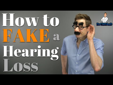 How To FAKE A Hearing Loss During A Hearing Test