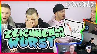 SKRIBBL MIT DER CREW | ZEICHNEN UM DIE WURST | Crewzember