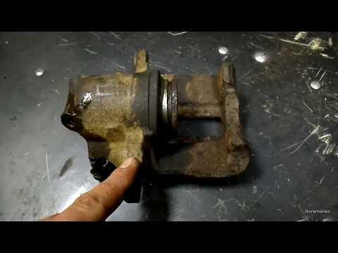 Как вытащить тормозной цилиндр из суппорта