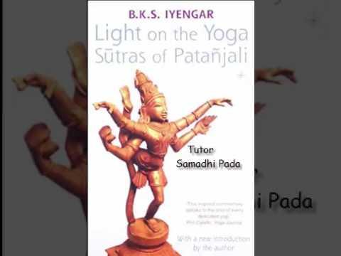 Patanjali Yoga Sutras   Tutor Samadhi Pada