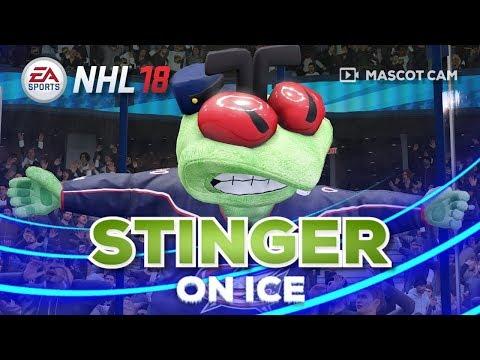 NHL 18 Mascot Cam on Ice | Stinger (Columbus Blue Jackets)