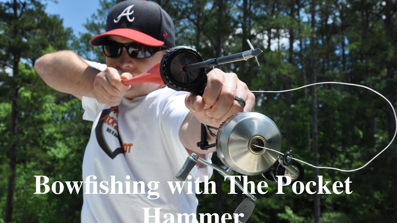 Bowfishing with the pocket hammer youtube for Mini crossbow fishing