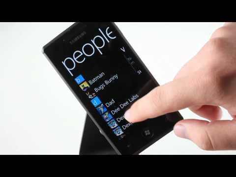 Samsung I8700 Omnia 7 UI demo