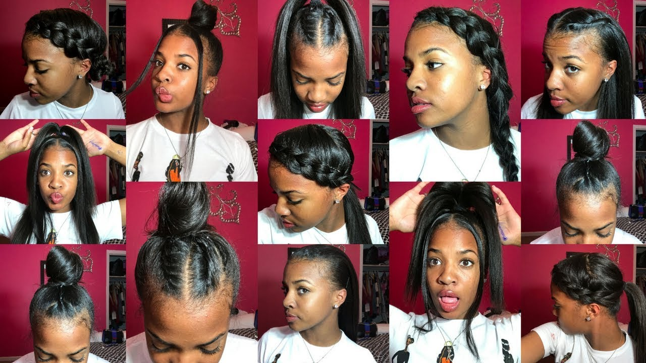 13 Styles For Straightened Natural Hair 1k Giveaway Youtube