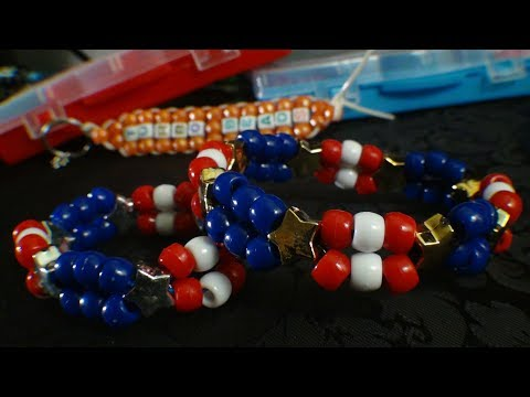 Turbobeads: Patriot Double Bead Bracelet Tutorial