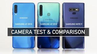 Samsung A7 2018 vs A9 2018 vs Note 9 CAMERA Test & Comparison | Zeibiz